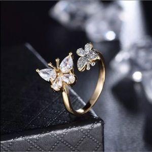 18k GF butterfly ring